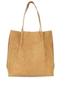 Suede Insert Shopping Bag: Tan €52,00